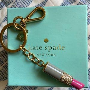 Kate Spade Lipstick Key Chain